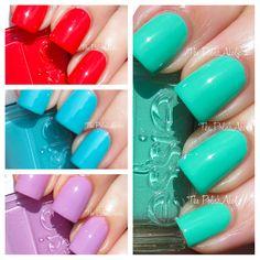 Essie Resort 2013 Collection Swatches #nails