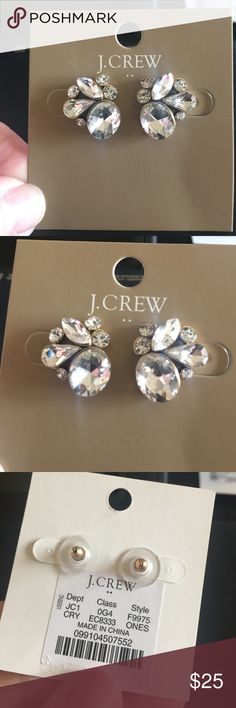 3c6a9b11f8d NEW crystal J. Crew studs!! Never worn super sparkly crystal studs from J