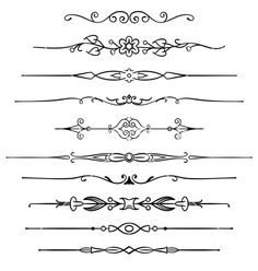 Page rules 1 vector on VectorStock® Body Art Tattoos, Small Tattoos, Sleeve Tattoos, Finger Tattoos, Tatuagem Diy, Doodle Borders, Unique Drawings, How To Write Calligraphy, Journal Design