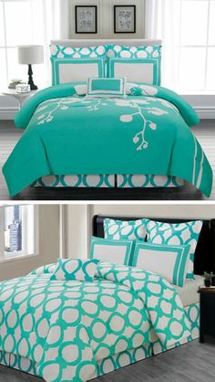turquoise bedroom for teens (Turquoise Room Decorations) Bedroom decor ideas - Tags: turquoise bedroom decor, turquoise living room decor, turquoise room ideas, turquoise room ideas teenage Turquoise Bedding, Bedroom Turquoise, Dream Bedroom, Home Bedroom, Bedroom Ideas, Bedroom Rustic, Bedroom Colors, Bedroom Interiors, Master Bedroom