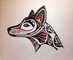 First Nations Wolf Drawing in first nations wolf drawing collection - ClipartXtras Haida Kunst, Inuit Kunst, Arte Inuit, Haida Art, Inuit Art, Haida Tattoo, Arte Tribal, Tribal Art, Art Haïda