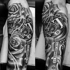 Amazing artist Lil B Hernandez forearm crown tattoo! Future Tattoos, New Tattoos, Cool Tattoos, Tatoos, Amazing Tattoos, Lil B Tattoo, Tattoo Art, Queen Tattoo, Body Modifications