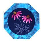 Echinacea Quilt Block - Northern American Wildflowers by Sylvia Pippen