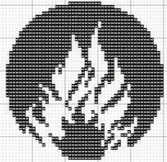 Divergent Faction Symbols (Film)  Pattern 3 of 3. 48x48 stitches.  Cross stitch pattern for Dauntless