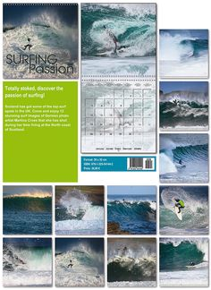 Now my surf calendar Surfing Passion 2015 international square wall calendar is available. It comes in the size 30cm x 30cm and doubles up to 60cm x 30cm. It comes in 5 languages, English, Italian,...