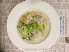 adobo down under: Almondigas - Filipino meat ball soup with sponge gourd