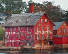 Paint manufacturer Gloucester Harbor MA  by Gallery Three Photography. Prints, Canvasses, Metal prints for sale, Just click the picture for a direct link