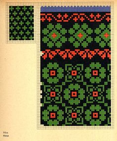 FolkCostume: Knitted Mittens of Nica, Kurzeme province, Latvia