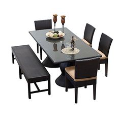 TK Classics NAPA-RECTANGLE-KIT-4C1B-C Napa Rectangular Outdoor Patio Dining Table With 4 Chairs and 1 Bench with 1 Cover in >>> For more information, visit image link. (This is an affiliate link) #PatioFurniture