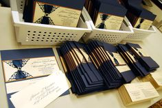 Navy wedding invites