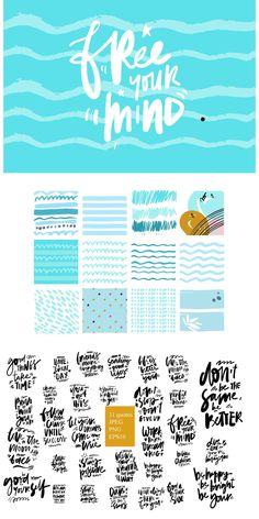 31 hand lettering inspirational quotes +bonus backgrounds