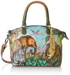 Women's Top-Handle Handbags - Anuschka 484 Top Handle BagAfrican AdventureOne Size ** More info could be found at the image url.