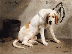 'Barbaro after the hunt' Marie Rosa Bonheur (1822-1899)(French.  She specialized in painting animals)