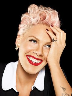 """A girl like me is someone who doesnt rest on her looks, who has had people tell me from day one, <You're never going to get magazine covers because you are not pretty enough>. Im totally comfortable with that"", Pink told Redbook magazine."