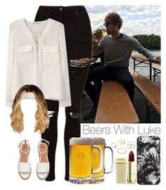 """""""Beers With Luke.-AliciaD."""" by imaginegirlsdsos ❤ liked on Polyvore featuring Topshop, MANGO, Casetify, Lipstick Queen and Lipsy"""