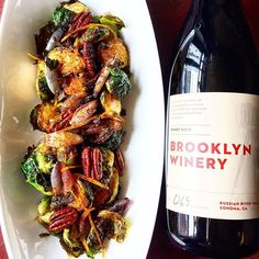 A glass of wine with a side of brussels, is there anything better?! See you soon at Brooklyn Winery!