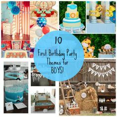 10 Fun First Birthday Party Themes for Boys!
