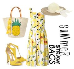 """Summer Straw Bag Look"" by geeksandnerds ❤ liked on Polyvore featuring Sensi Studio and strawbags"