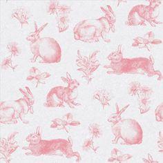 Ashford House Toiles Bunny Toile Wallpaper AT4260