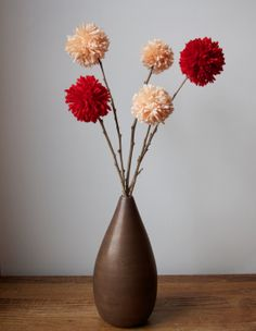 pom-pom-flowers-also works for a snowball fight if done in white