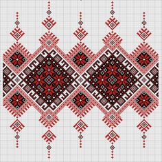 Іринка Дро - UkrOpen Machine Embroidery Patterns, Loom Patterns, Cross Stitch Patterns, Beading Patterns, Cross Stitch Borders, Cross Stitch Designs, Bordado Popular, Broderie Bargello, Palestinian Embroidery