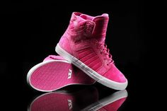 Once again, Supra joins Elyse Walker in the fight against breast cancer by creating a limited edition Skytop for women to be released at this year's annual Pink Party. Supra Sneakers, Supra Shoes, Supra Footwear, Sock Shoes, Cute Shoes, Me Too Shoes, Supra High Tops, Supra Skytop, Adidas Football