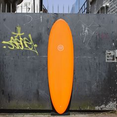 watershed single fin surfboard resin tint orange