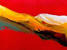 Jonas Gerard - Fluidity # 13. Acrylic on canvas