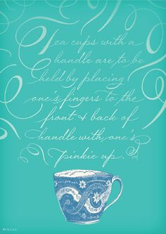 love the #typography and #tea cups. of course. tea.