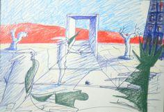 1993 TERAMO_LA CITTA' DELLE DONNE 3.3_cartone cm. 49 x 69 by Brunetto De Batté