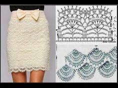 Fabulous Crochet a Little Black Crochet Dress Ideas. Georgeous Crochet a Little Black Crochet Dress Ideas. Crochet Diy, Beau Crochet, Mode Crochet, Crochet Woman, Irish Crochet, Crochet Summer, Crochet Skirt Pattern, Crochet Motifs, Crochet Diagram
