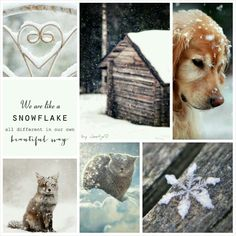 We are like a snowflake. #moodboard #mosaic #collage #byJeetje♡