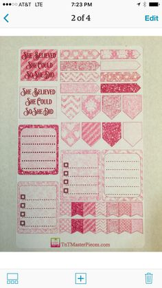 February pink glitter stickers!  For your Erin Condren Planner, vertical layout.