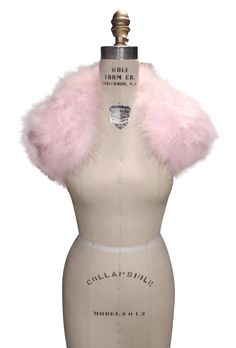 The Parisian Luxury Ostrich Vintage Feather Shrug Wrap - Caviar Pink