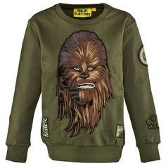 Fabric Flavours Dark Green Marl Chewbacca Sweater