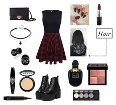 Untitled #176 by jenniferhdz on Polyvore featuring polyvore, fashion, style, Jimmy Choo, Givenchy, LORAC, Witchery, Hot Topic, MAC Cosmetics, Alexander McQueen and clothing
