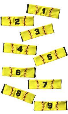 MadSportsStuff Player ID Jersey Number Softball Stitch Headbands! Great team gift...