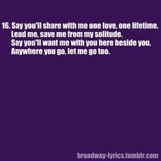 """Phantom of the opera """"ALL I ASK OF YOU""""..LOVE THIS. Cry everytime."""