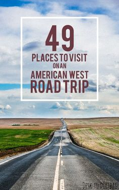 Places to Visit on the Ultimate West Coast Road Trip Quit your job, then hit the road. It's always a good time for a road trip of the American WestQuit your job, then hit the road. It's always a good time for a road trip of the American West The Road, West Coast Road Trip, Road Trip Usa, West Road, Usa Roadtrip, Route 66, Camping Ideas, Truck Camping, Camping Survival