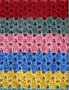 "I haven't looked at the pattern yet but if each ""row"" is actually three rows, I would do the double crochet row in brown the second row in white and the third row in red. that way they looked like little cupcakes! <3"