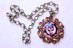 Gears of war Crimson Omen Red Necklace by PumpkinSodaPop on Etsy, $22.00