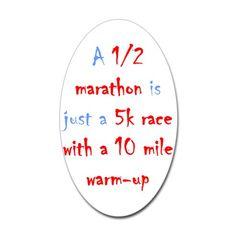 @Katie Schmeltzer Montry   1/2 Marathon Oval Sticker