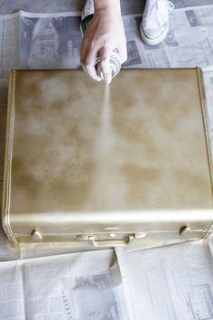 Unique Decor, How To Spray Paint A Suitcase