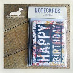 Happy Birthday Note Cards Set of 5 by PickleDogDesign on Etsy, $7.00