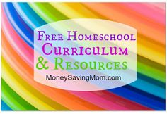 Check out this HUGE list of FREE homeschool printables, resources, and curriculum.