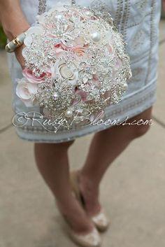 Romantic Feminine - Blush Pink Dusty Rose Silver Brooch Bouquet #bride #rubyblooms #sandiegowedding #californiawedding #losangeleswedding #sandiego #sandiegoflorist #sandiegoweddings #weddingplanner #sandiegoflorist #floraldesign #designer #newyorkwedding #broochbouquet #socalwedding #weddingbouquet #bridalbouquet #dustyrose #blush #blushpink #weddingflowers #blushwedding #dustypink #weddingphotography #engaged #bride2be #weddingfashion #weddingdress #justengaged