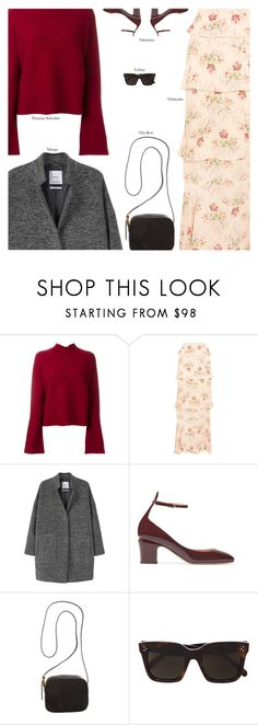 """""""Untitled #4325"""" by amberelb ❤ liked on Polyvore featuring Proenza Schouler, Vilshenko, MANGO, Valentino, The Row and CÉLINE"""