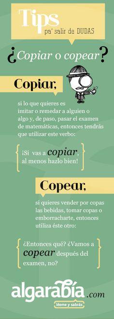 ¿Copiar o copear? #tip #consejo #lengua #español