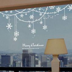 Snowflake Solid Decoration Christmas Window Sticker