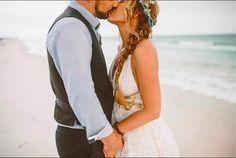 "Nicole & Andy continue our ""Best of the Best of #shareenbridal 2015: Her Beloved"". Photo @jessifieldphoto. Flowers @floralsbythesea. Venue #graytonbeach. #bride #bridal #bohobride #bohemianwedding #bestof2015 #bestofthebest #commitment #herbeloved #husbandandwife #indiebride #indiewedding #love #marriage #nontraditionalbride #nontraditionalbridal #nontraditionalwedding #photo #wedding"